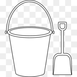 And spade png psd. Bucket clipart template