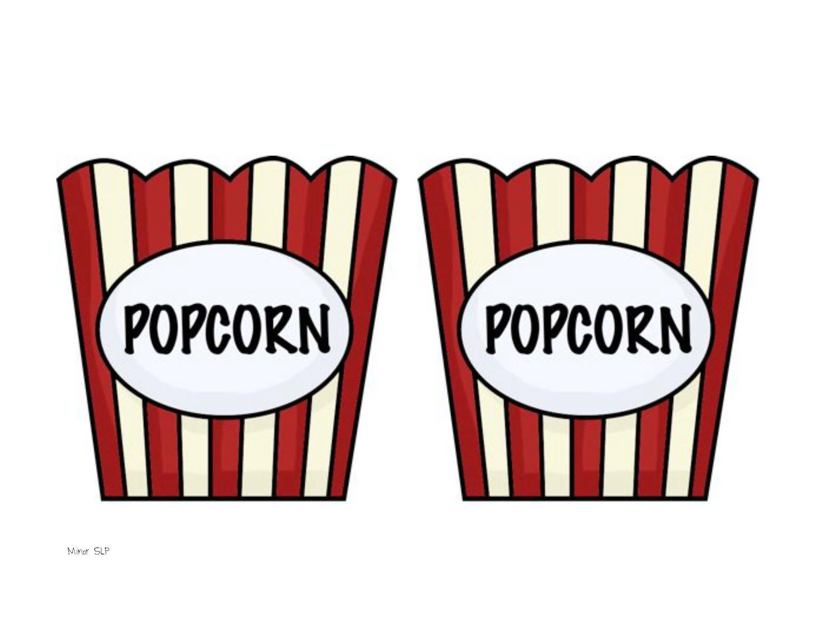 Bucket clipart template. Popcorn incep imagine ex