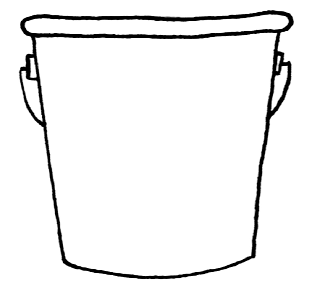 Templates . Bucket clipart template
