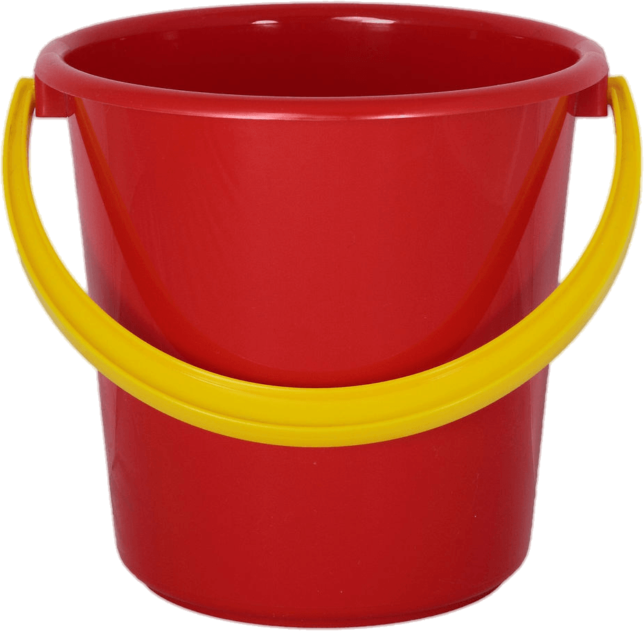Red plastic png stickpng. Bucket clipart transparent background