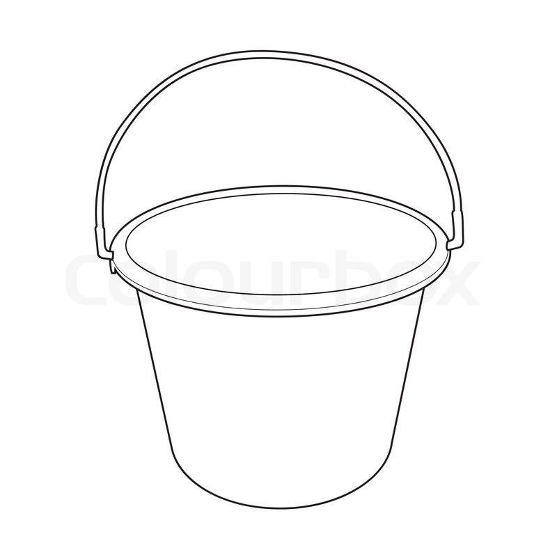 Drawing at getdrawings com. Bucket clipart vector