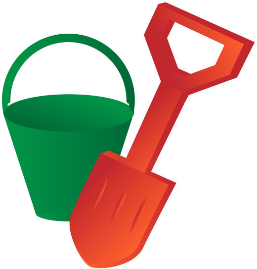 Bucket clipart vector. And spade free in