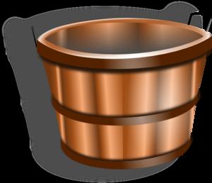 Bucket clipart vector. Wood clip art at