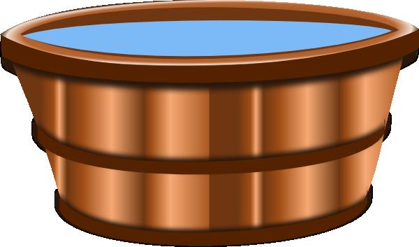 Clip art at clker. Bucket clipart wooden bucket
