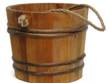 Hand drawing of an. Bucket clipart wooden bucket