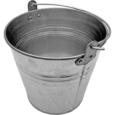 Bucket clipart wooden bucket. Silver with wood transparent