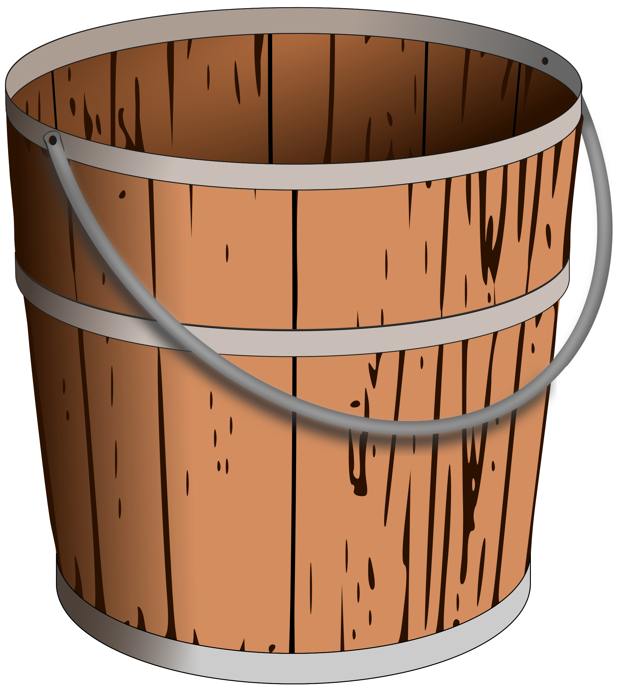 File wooden pail svg. Water clipart bucket