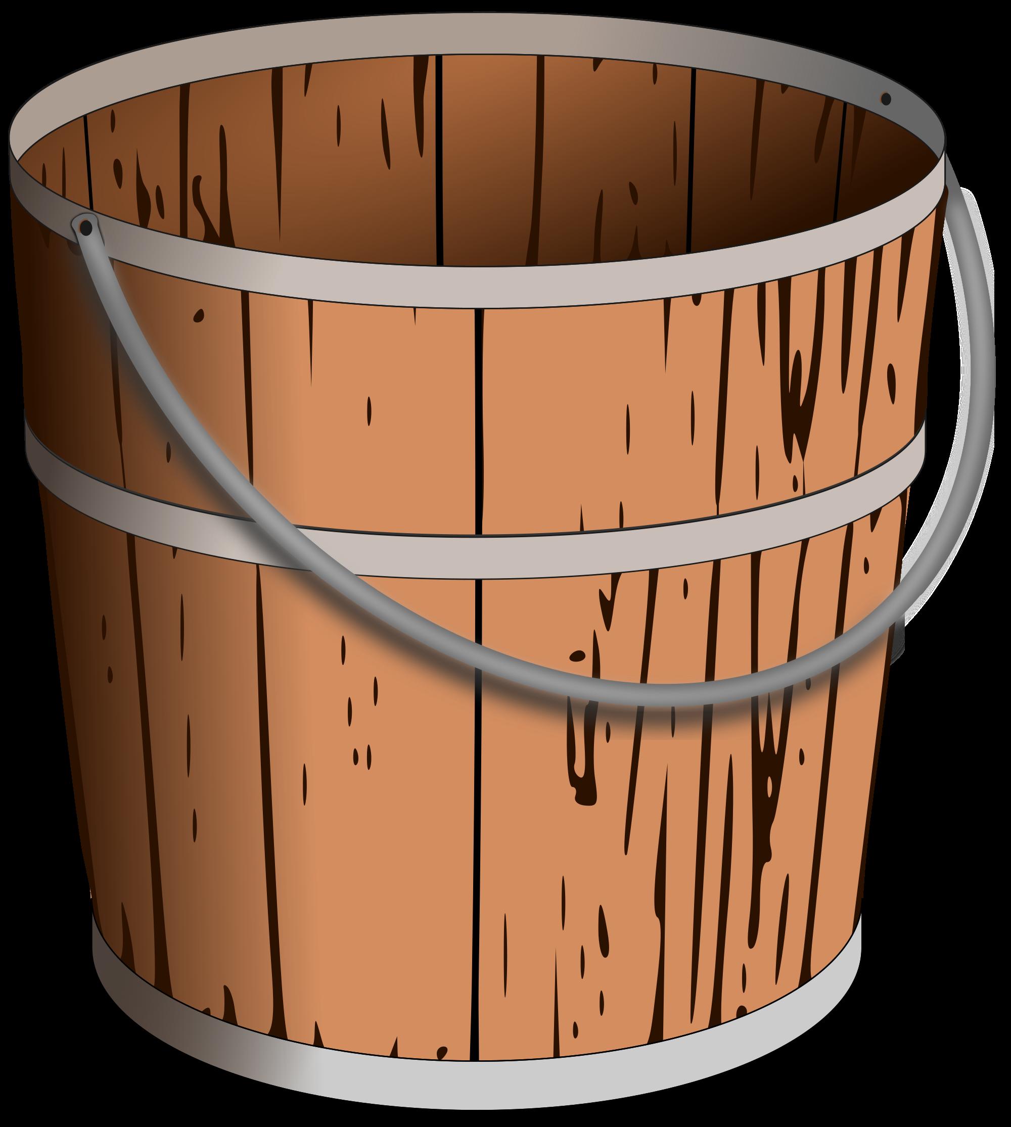 File pail svg wikimedia. Bucket clipart wooden bucket