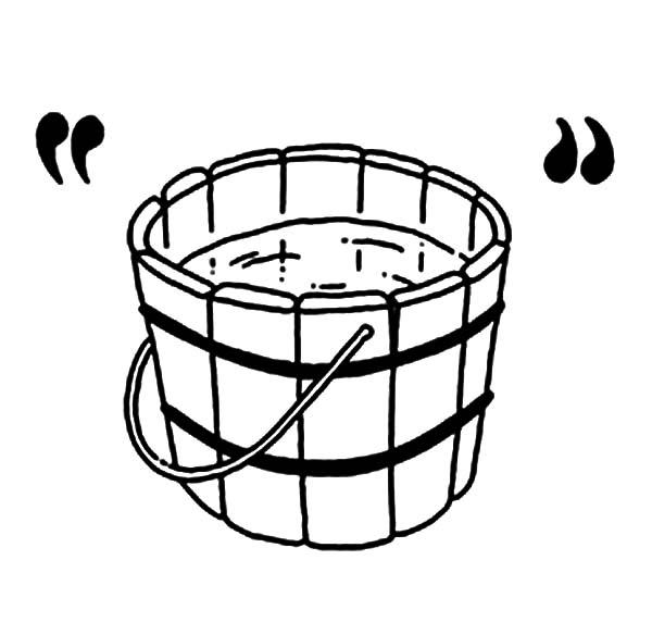 collection of water. Bucket clipart wooden bucket