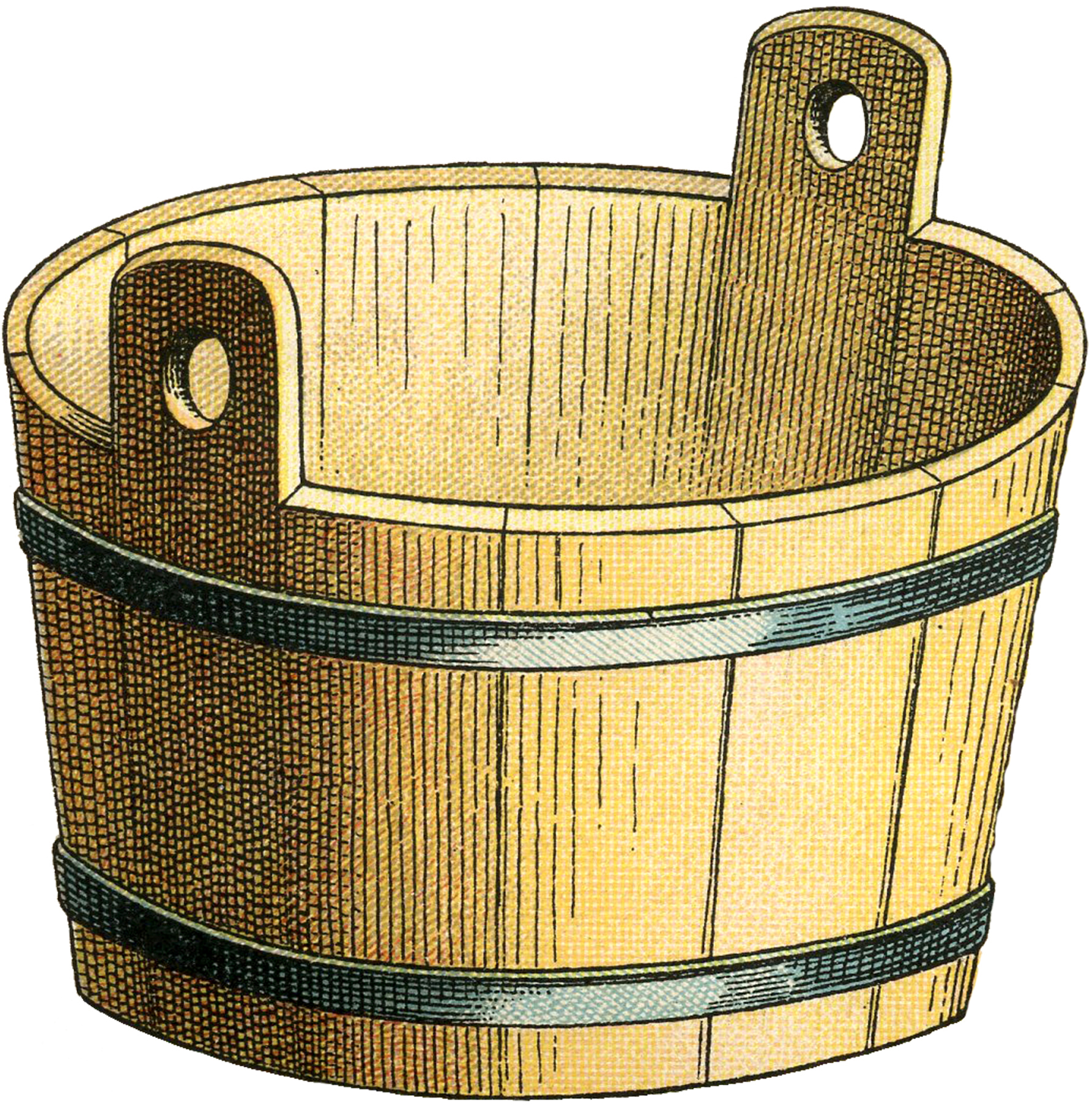 Bucket clipart wooden bucket. Old image the graphics