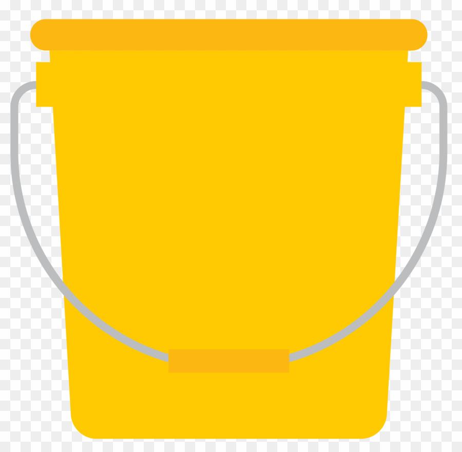 Bucket clipart yellow bucket. Cartoon png download