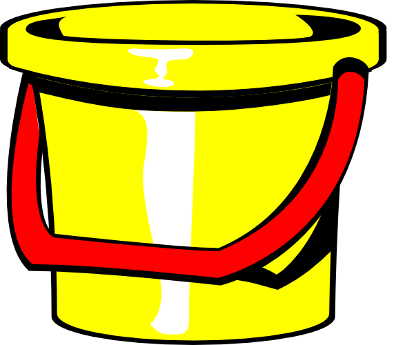 Rock and roll clip. Bucket clipart yellow bucket