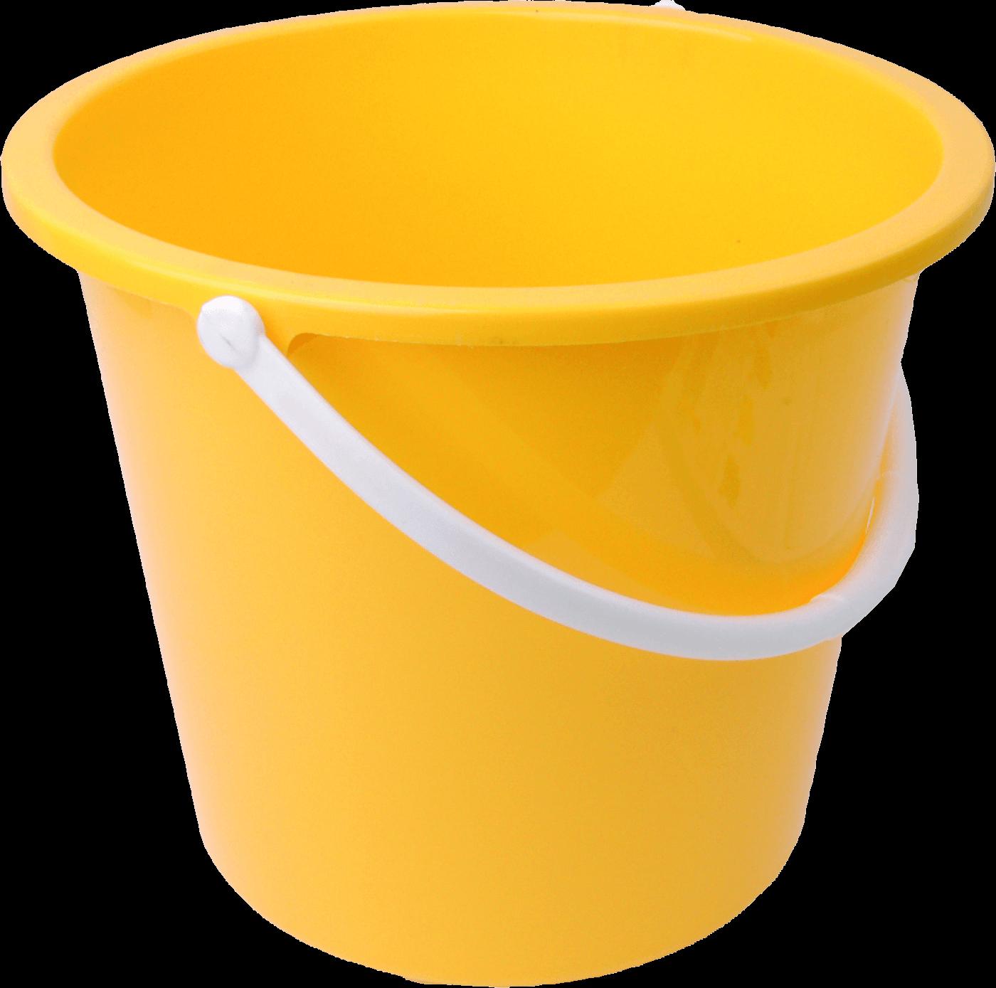 Bucket clipart yellow bucket. Transparent png stickpng