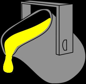 Bucket clipart yellow bucket. Paint clip art at