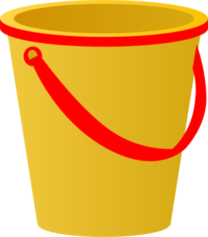 Bucket clipart yellow bucket. Cup of coffee transparent