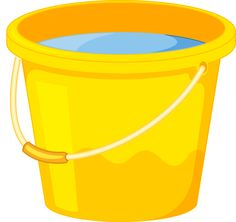 Bucket clipart yellow bucket. Pail pencil and in