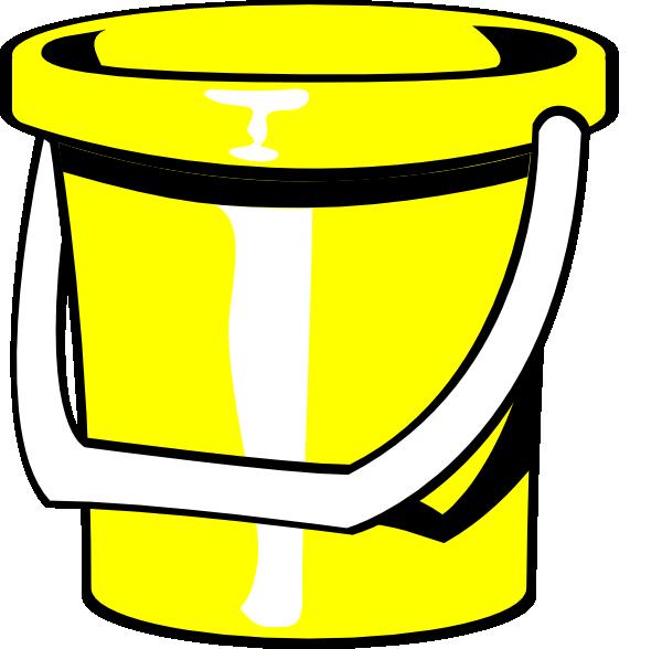 Clip art at clker. Bucket clipart yellow bucket