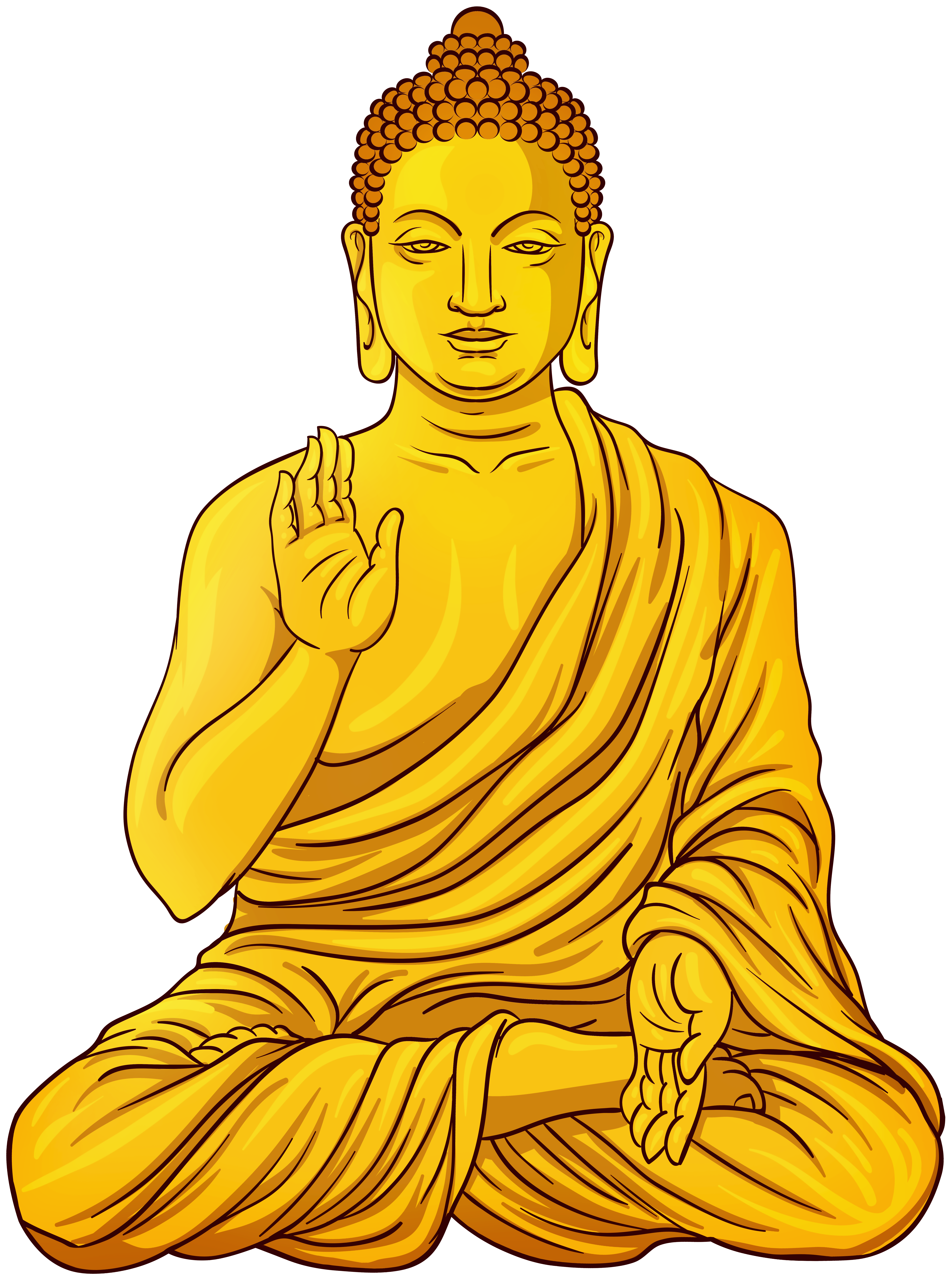 Gold statue png clip. Buddha clipart