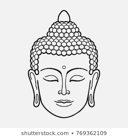 Drawing of portal . Buddha clipart