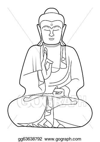 Vector stock illustration gg. Buddha clipart basic