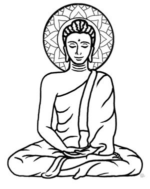 Buddha clipart black and white. Drawing at getdrawings com