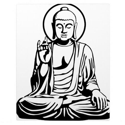 Young no photo plaques. Buddha clipart black and white