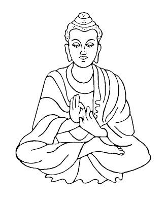 Buddha clipart black and white. Station