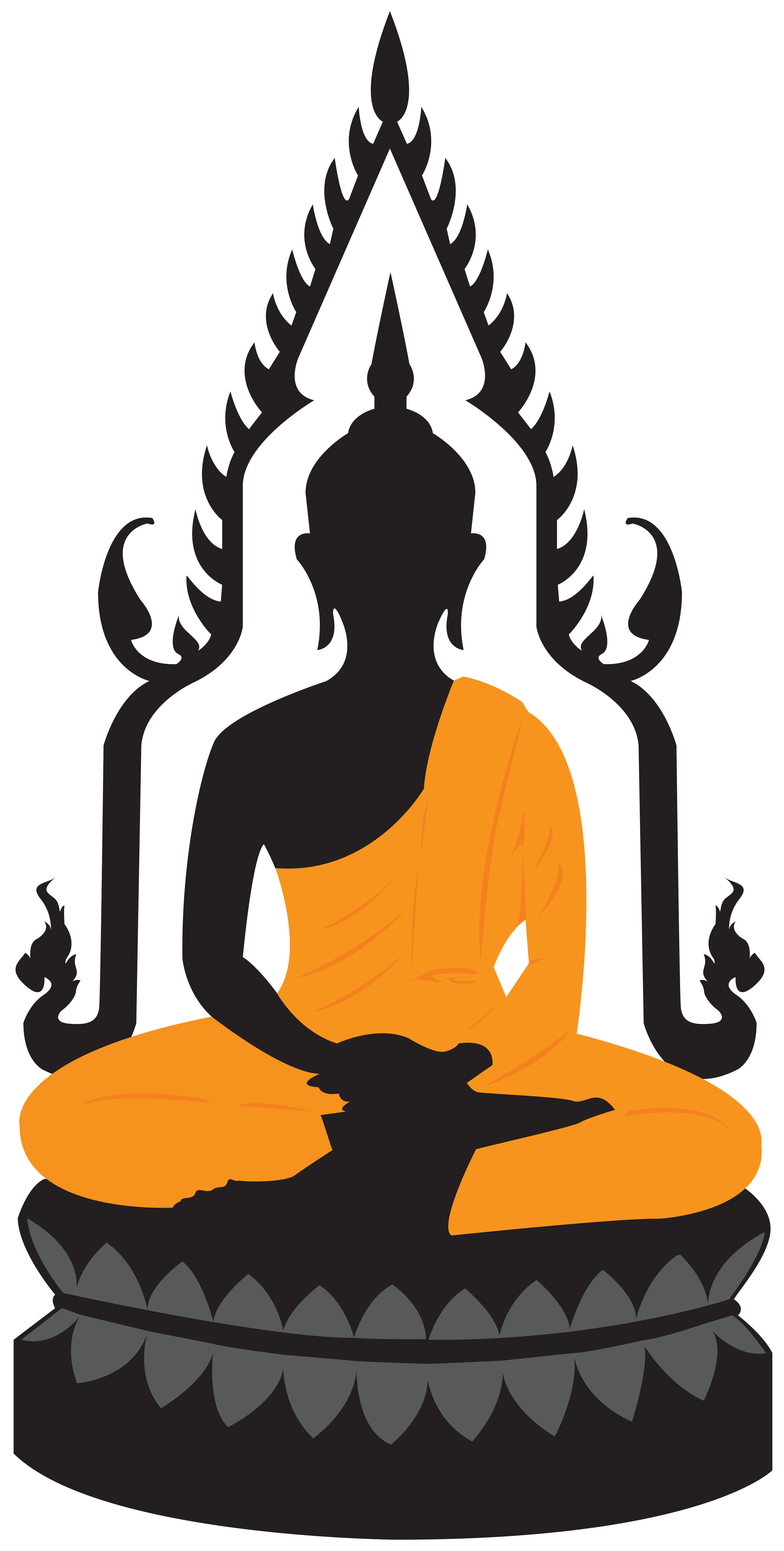 Lotus statue png clip. Clipart wedding buddha