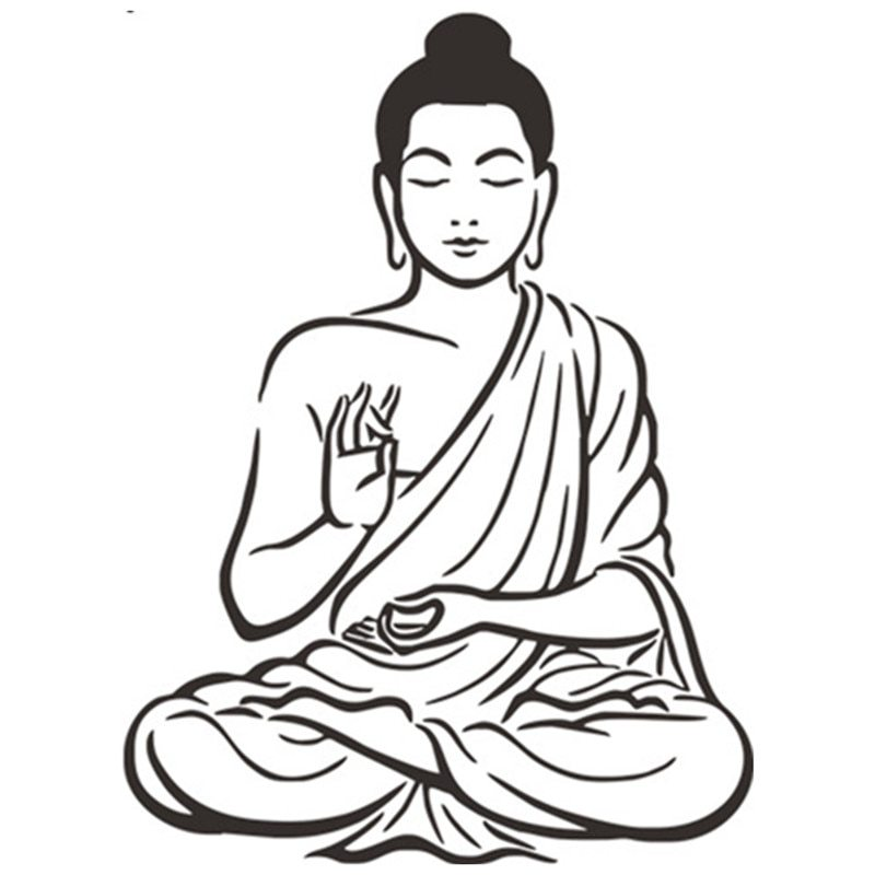 Buddha clipart easy. Drawing at paintingvalley com