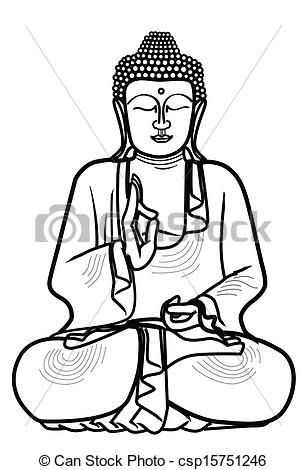 Buddhist illustrations and thailand. Buddha clipart easy