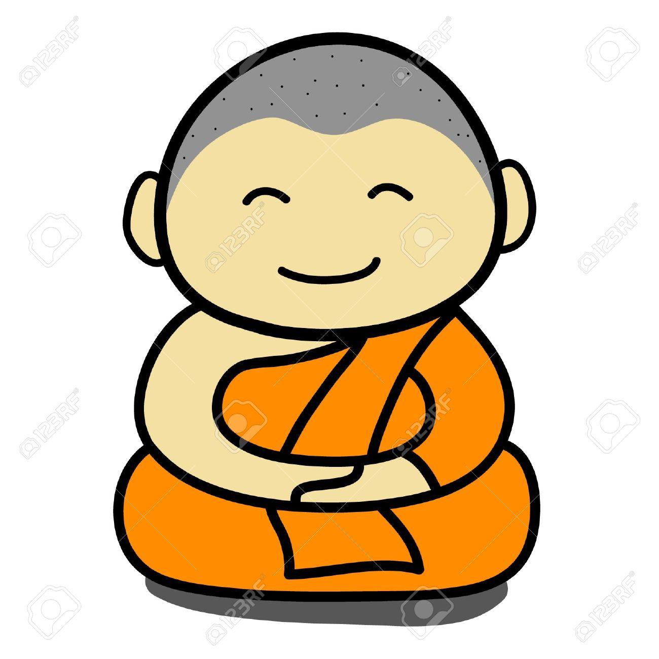 Buddha clipart easy. Cartoon drawing at getdrawings