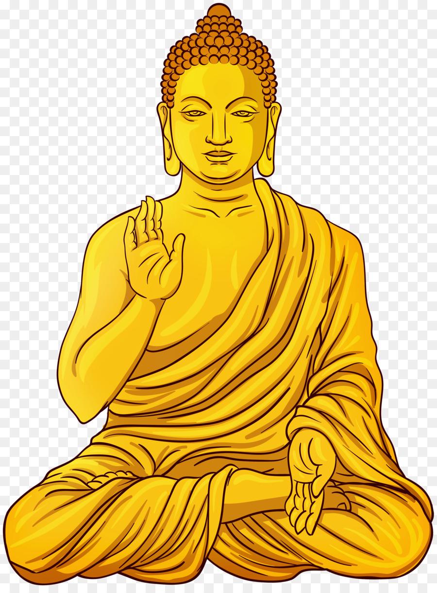 Cartoon . Buddha clipart golden buddha