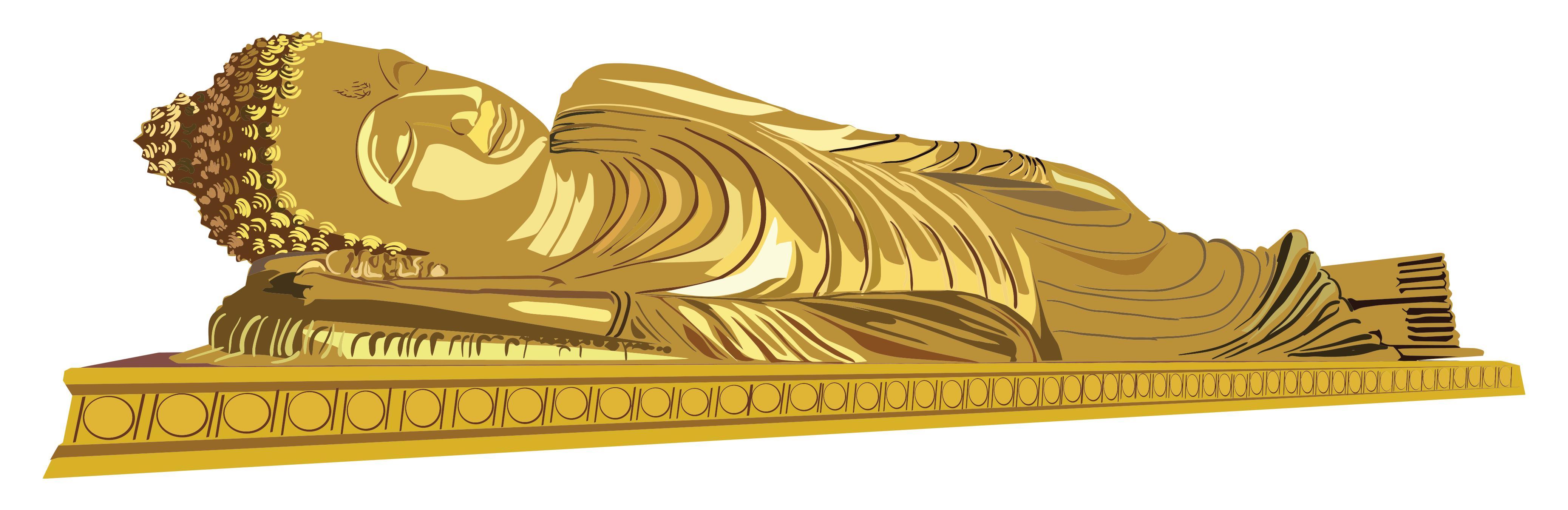 Buddha clipart golden buddha. Reclining design droide