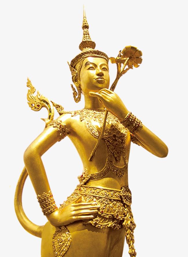 Statue yellow png image. Buddha clipart golden buddha