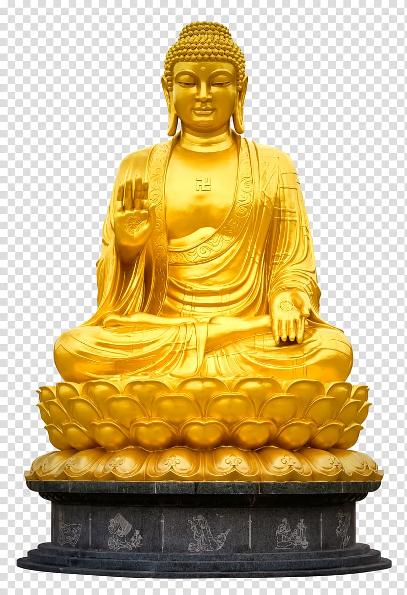 Statue illustration gautama . Buddha clipart golden buddha