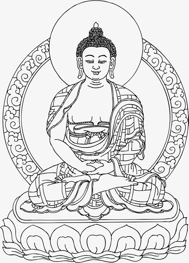 Buddha clipart line, Buddha line Transparent FREE for ...