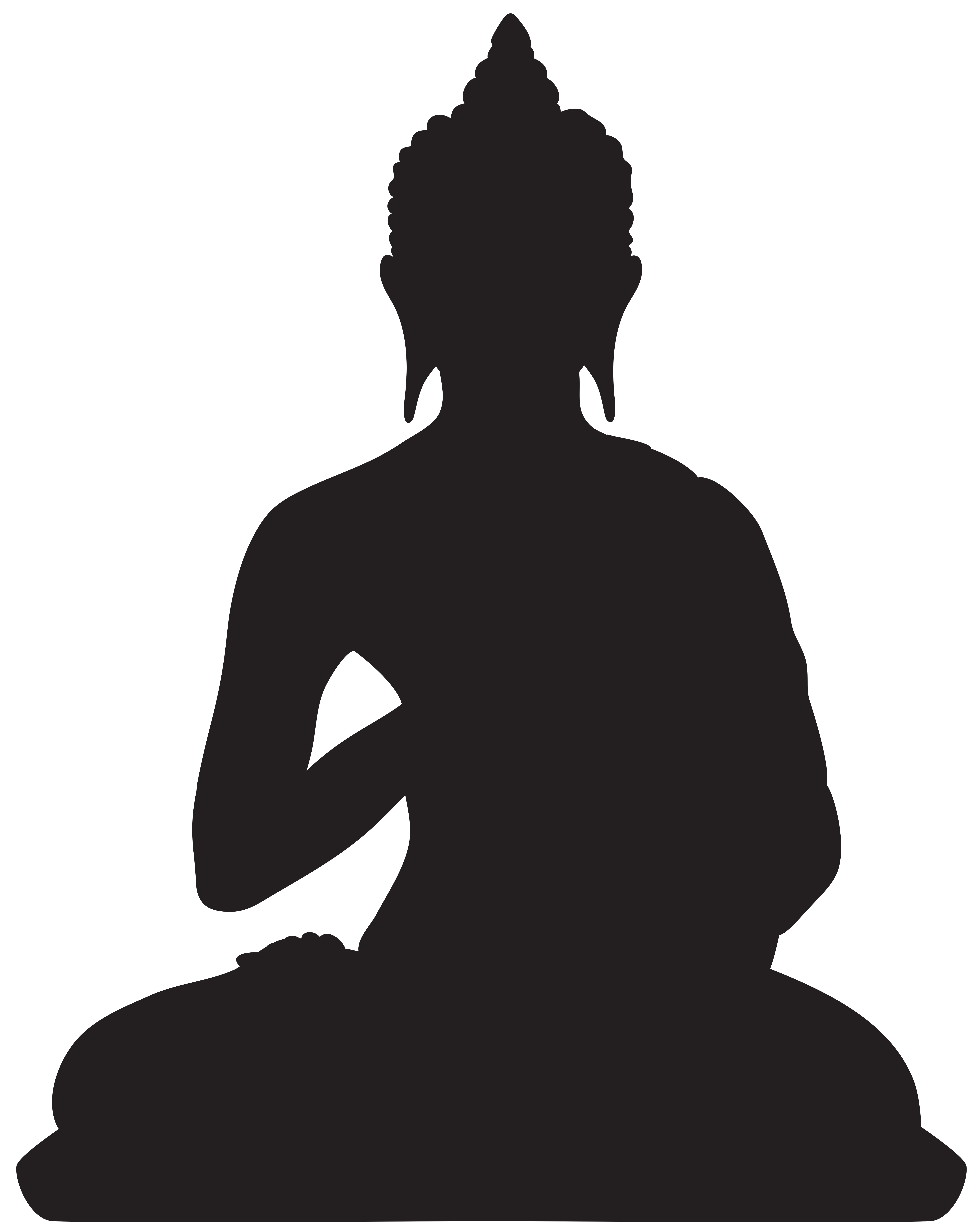 Buddha silhouette png clip. Parrot clipart shadow