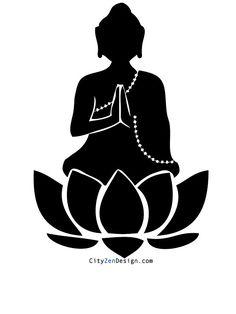 Vector silhouettes and stenciling. Buddha clipart silhouette