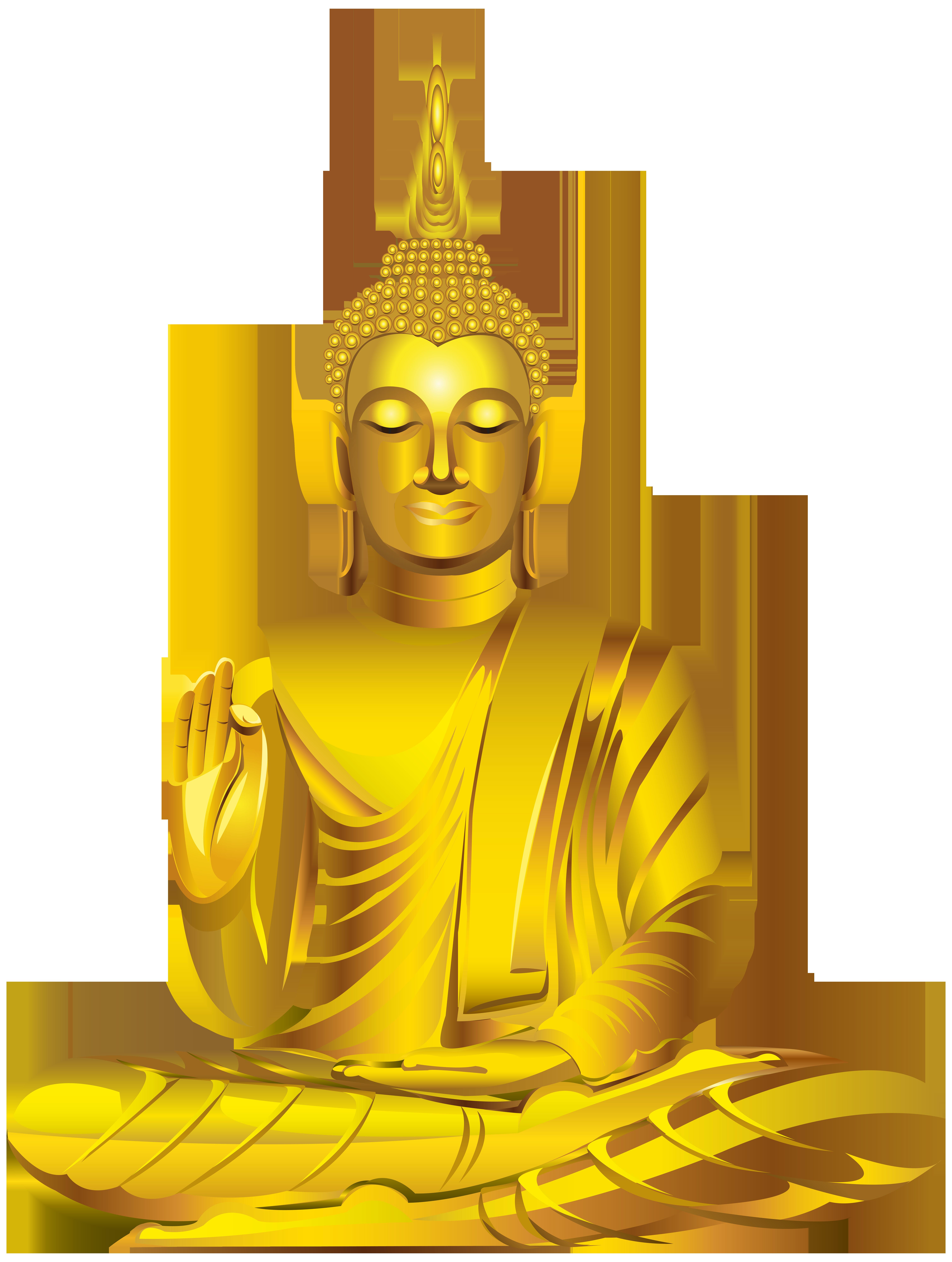 Buddha statue png clip. Magic clipart gold
