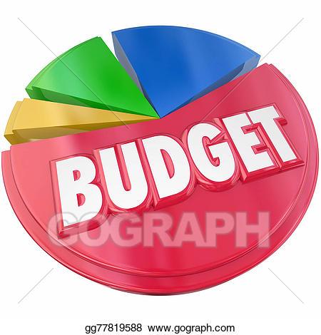 Budget clipart budget plan. Stock illustration pie chart