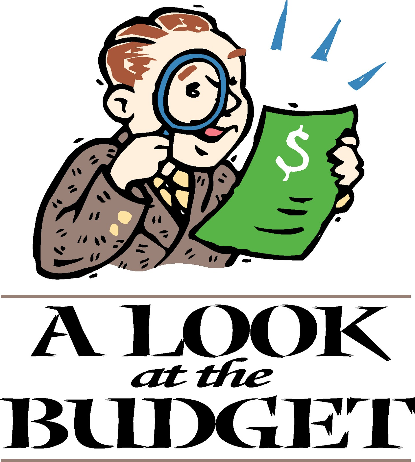 Life begins at retirement. Budget clipart cute
