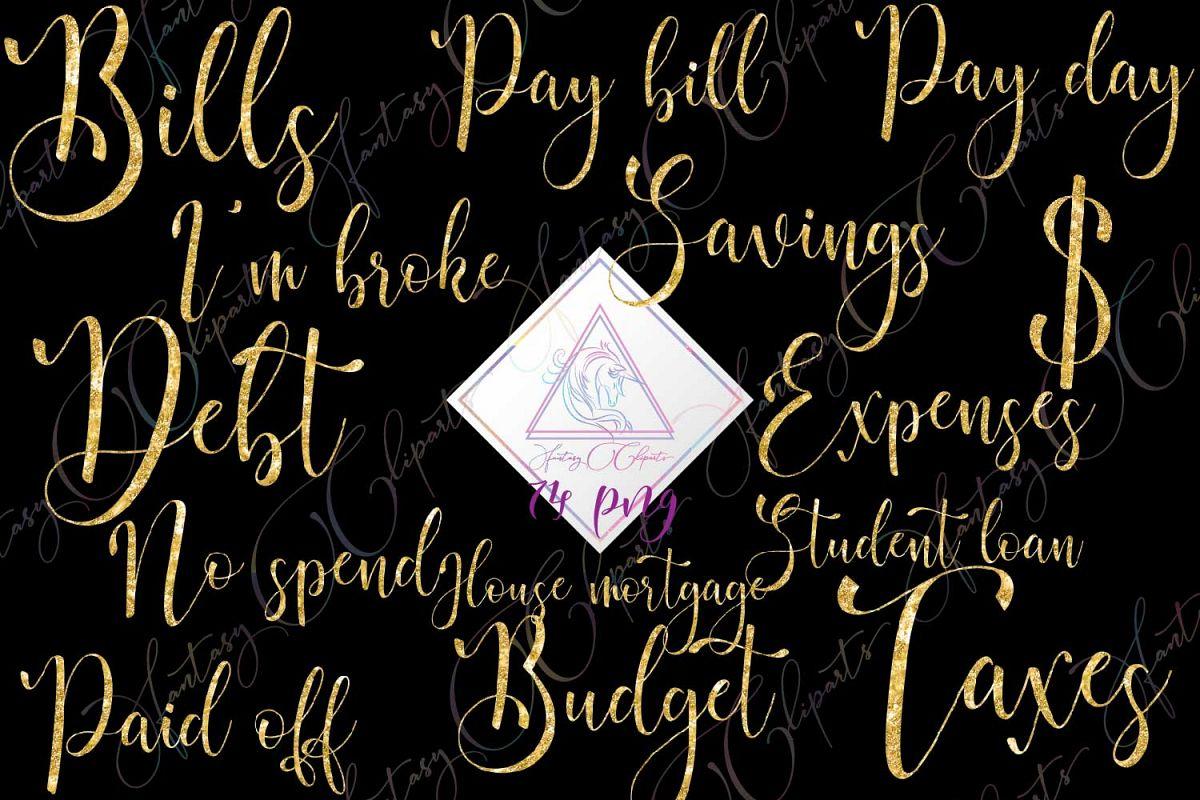 Monthly bills . Budget clipart word art