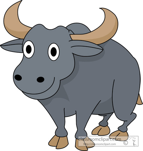 Water . Buffalo clipart