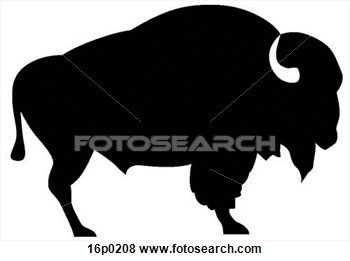 Bison clipart buffalo silhouette. Cn clip art school