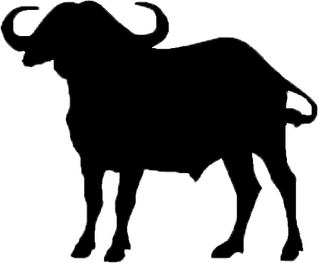 Buffalo clipart african buffalo. Silhouette at getdrawings com