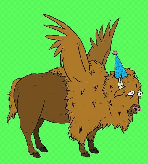 Where the roam gifs. Buffalo clipart animation