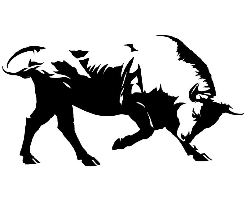 Svg bison graphic rodeo. Buffalo clipart bull