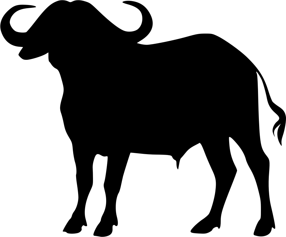 Clipart cow buffalo. Cape svg png icon