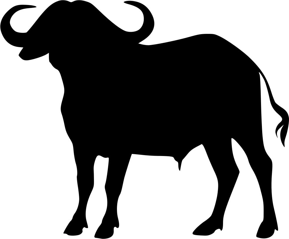 Buffalo clipart cape buffalo. Svg png icon free