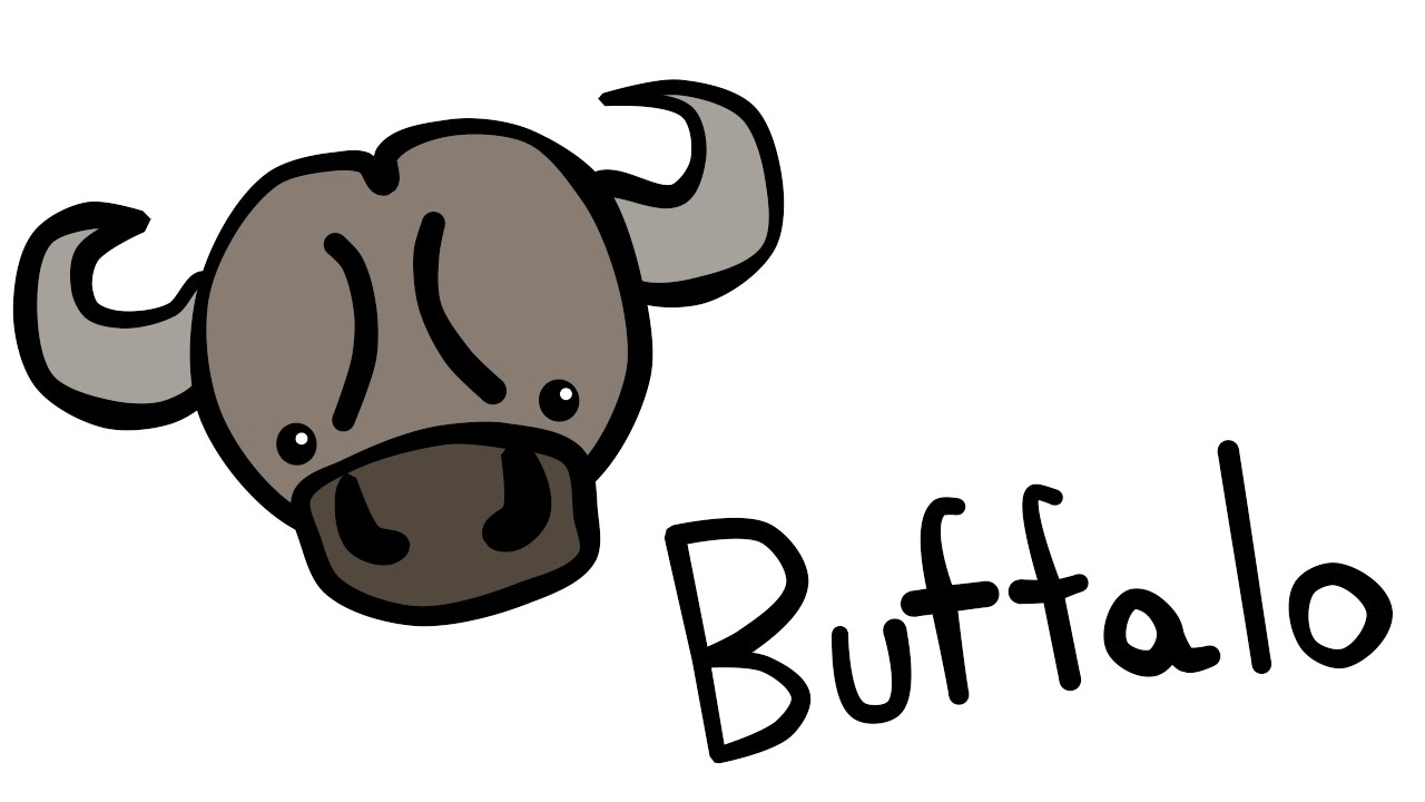 Buffalo clipart cute. And quick how to